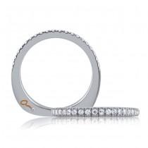18 KARAT WHITE GOLD DIAMOND WEDDING BAND with 56 Diamond(s) 0.37ctw