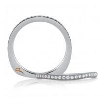18 KARAT WHITE GOLD DIAMOND WEDDING BAND with 26 Diamond(s) 0.19ctw