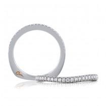 18 KARAT WHITE GOLD DIAMOND WEDDING BAND with 25 Diamond(s) 0.18ctw