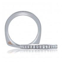 18 KARAT WHITE GOLD DIAMOND WEDDING BAND with 18 Diamond(s) 0.28ctw