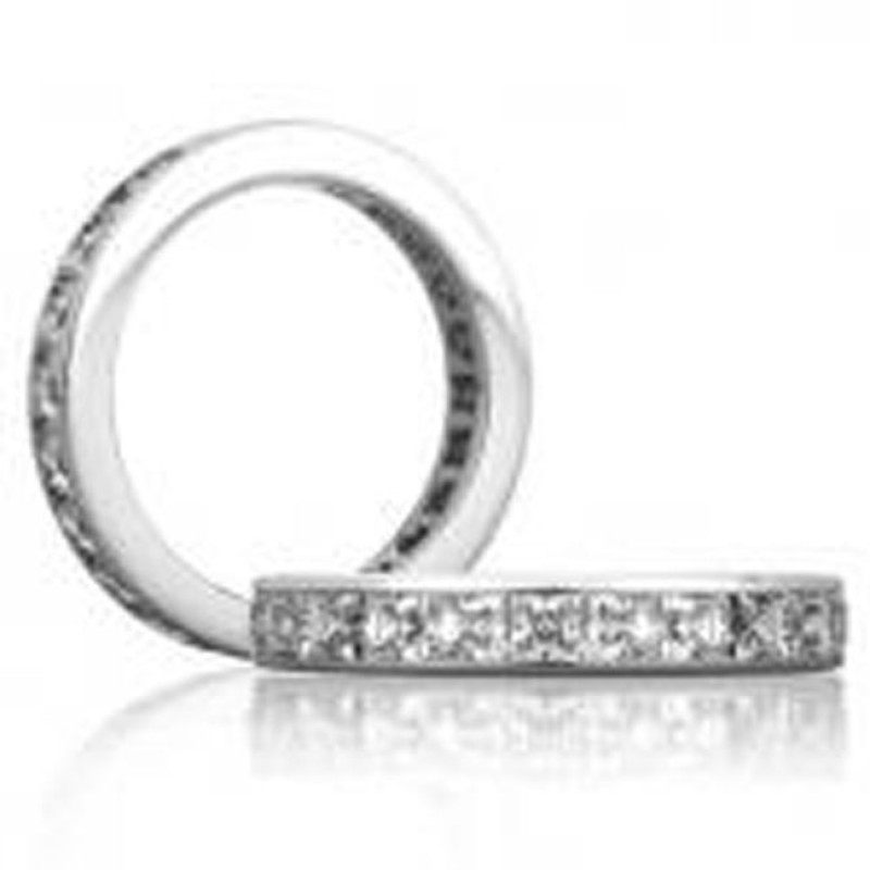 18 KARAT WHITE GOLD DIAMOND WEDDING BAND - 1601WB