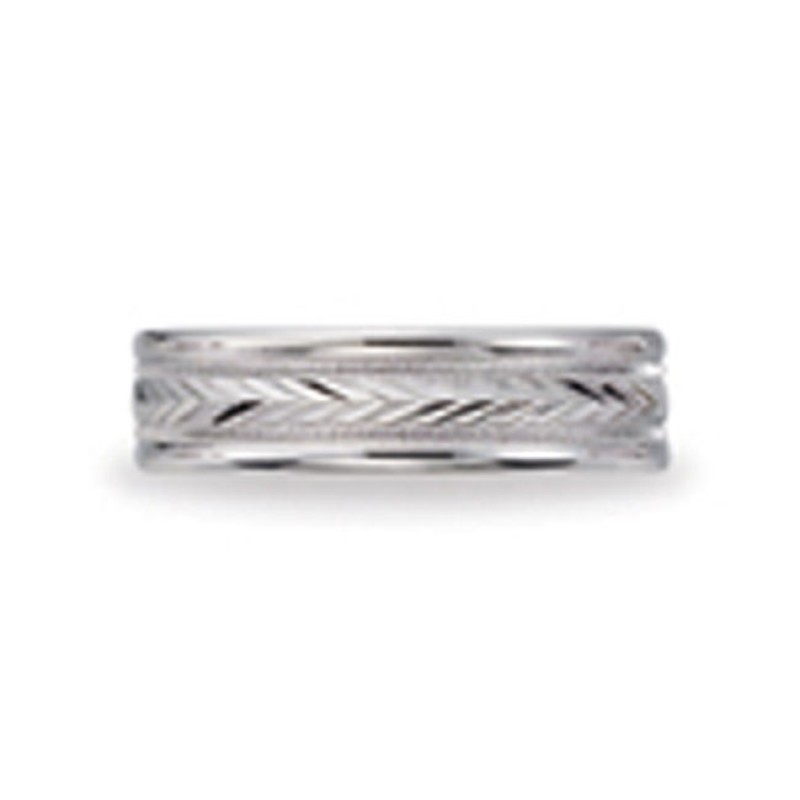 14 KARAT WHITE GOLD GENTS BAND - 2805G