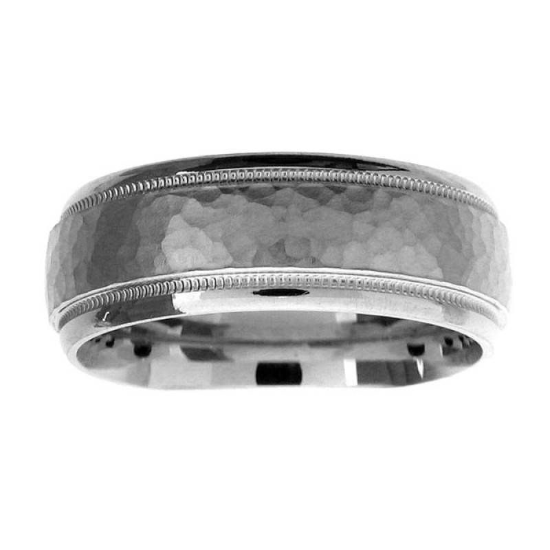 14 KARAT WHITE GOLD GENTS BAND