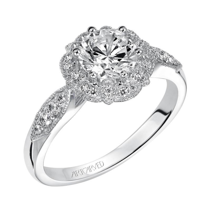 Francesca' Enchanted Halo Diamond Engagement Ring - 31-V480ERW-E.00