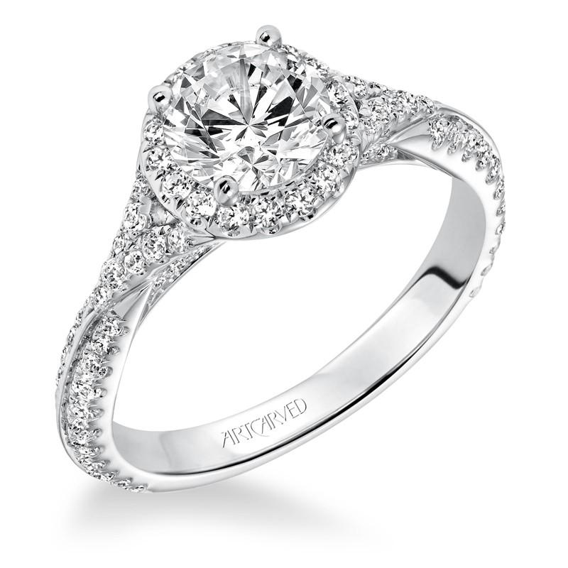 Liana' Prong Set Halo Engagement Ring - 31-V592ERW-E.00