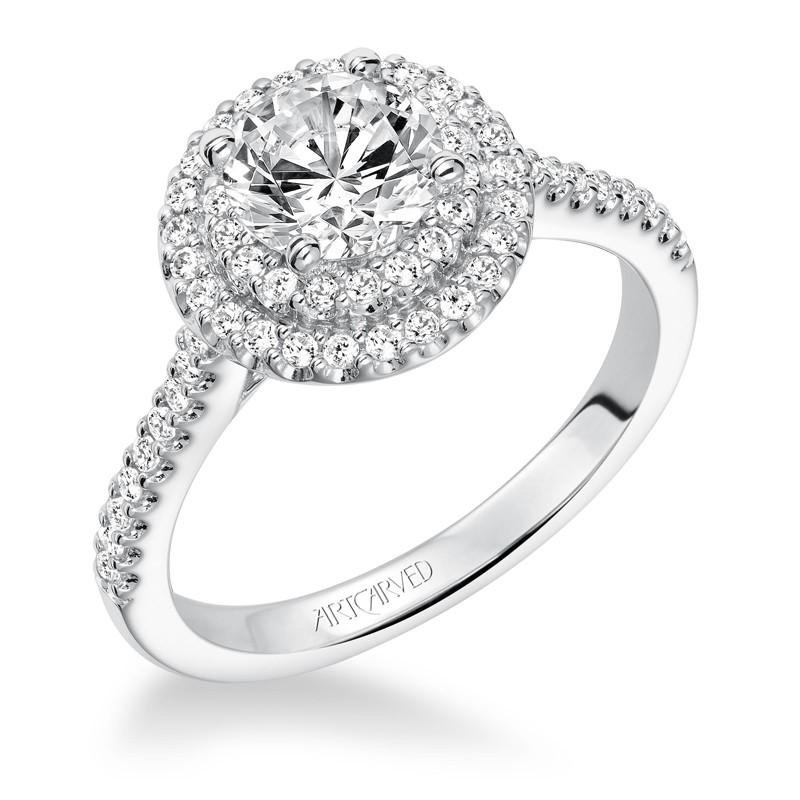 Melinda' Diamond Double Halo Engagement Ring - 31-V607ERW