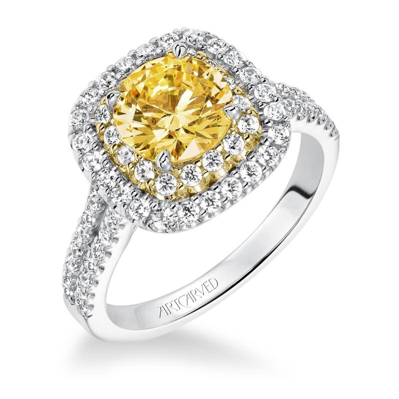 Marigold' Double Halo Diamond Engagement Ring  - 31-V611GRA