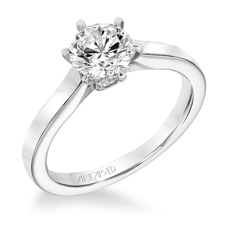 Jesse' Classic Diamond Solitaire With Surprise Diamonds Engagement Ring - 31-V696ERW