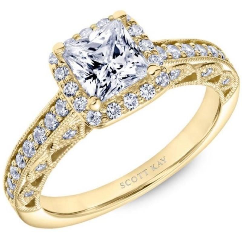 Yellow Gold Scott Kay Diamond Engagement Ring