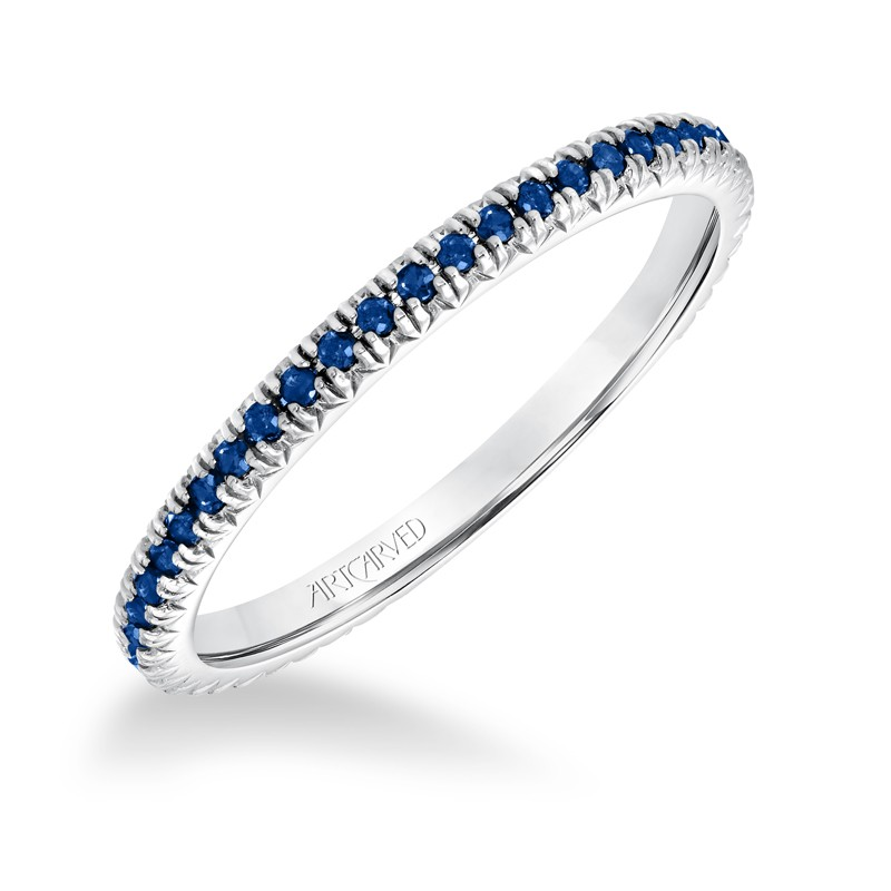 Stackable Eternity Band with All Blue Sapphires - 33-V88K4W65S