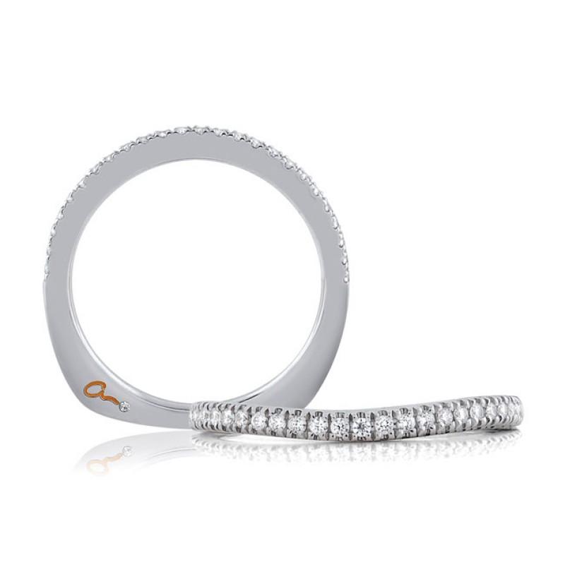 18 KARAT WHITE GOLD WEDDING BAND with diamonds - 4028WR-B