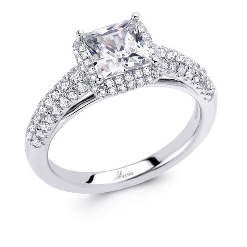 18 Karat White Gold Wedding Ring With Diamonds 4601wr