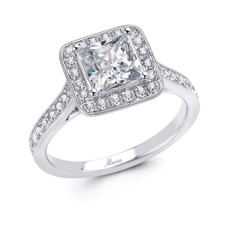 18 Karat White Gold Wedding Ring With Diamonds 4636wr