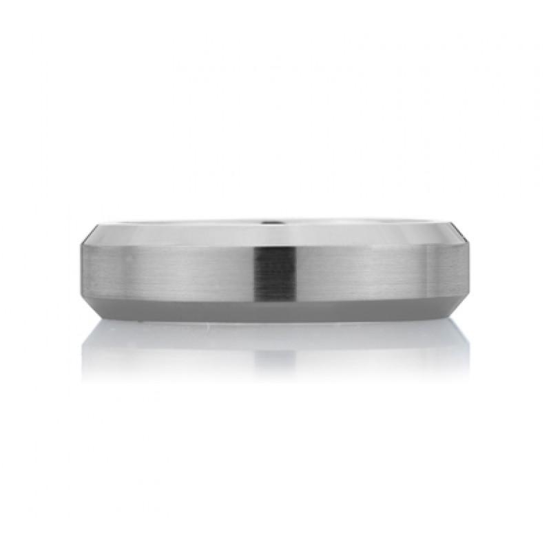 Concave Edged Men's Ring