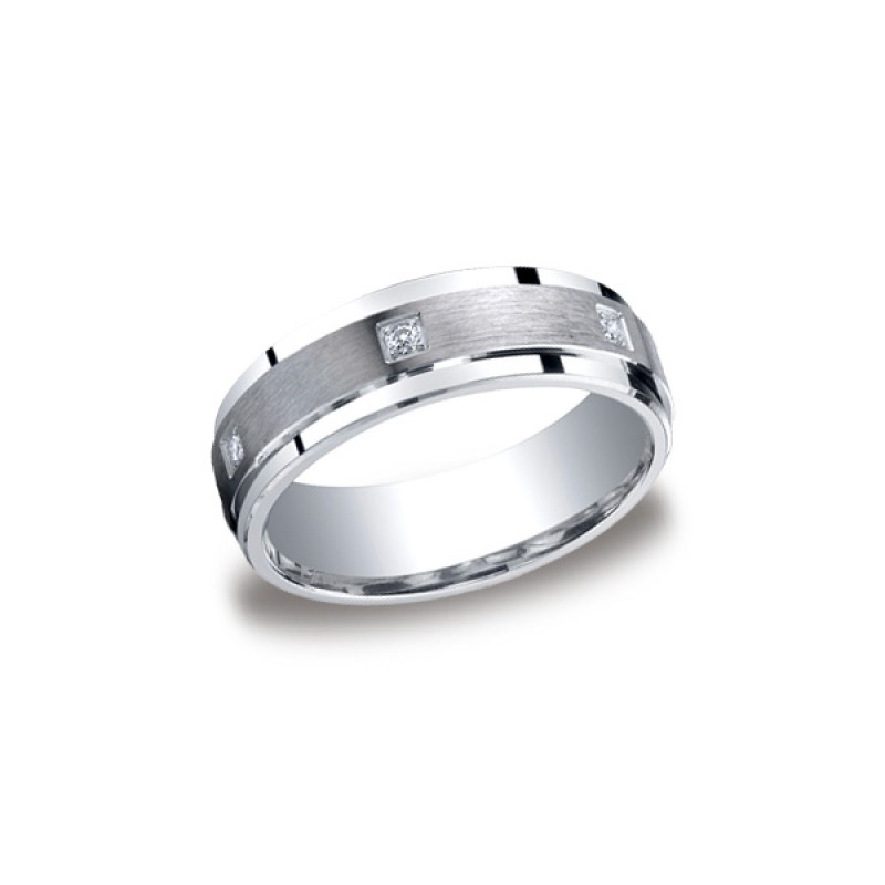Diamonds Argentium Silver 7mm Diamond Band