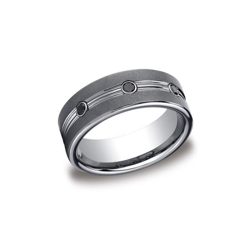 Forge Tungsten 7mm Black Diamond Band