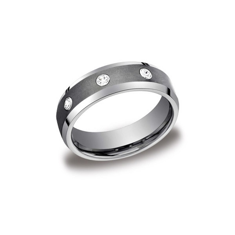 Forge Tungsten 7mm Diamond Band