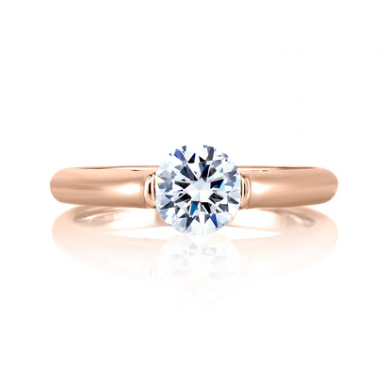 MODERN SOLITAIRE CATHEDRAL ENGAGEMENT RING
