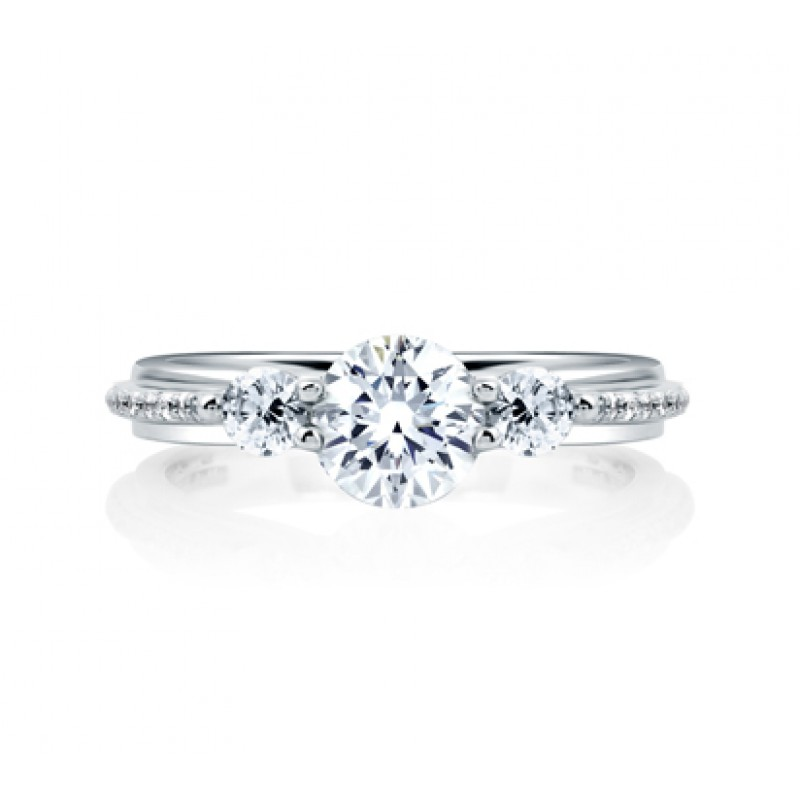gallery for cushion bands with rings ring micro diamond pav pave in platinum solitaire engagement set diamonds shank oval