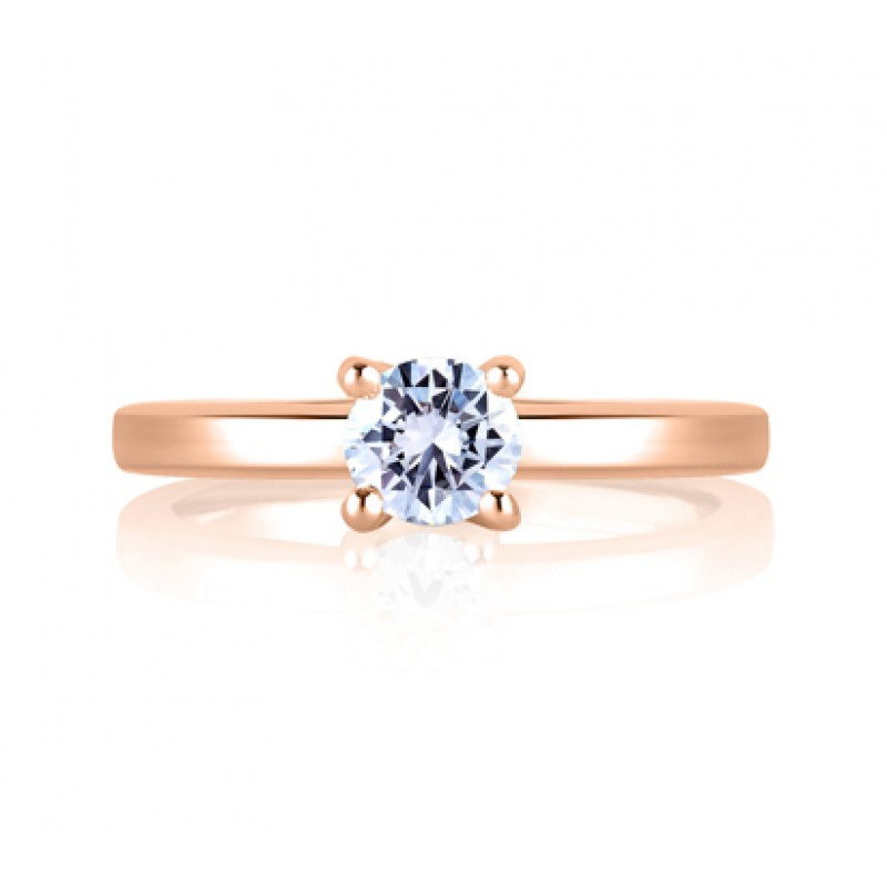 SQUARE SHANK SOLITAIRE WITH LOOP SET PROFILE DIAMOND ENGAGEMENT RING