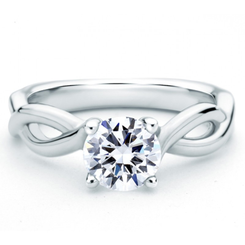 DESIGNER VINE MOTIF SOLITAIRE ENGAGEMENT RING