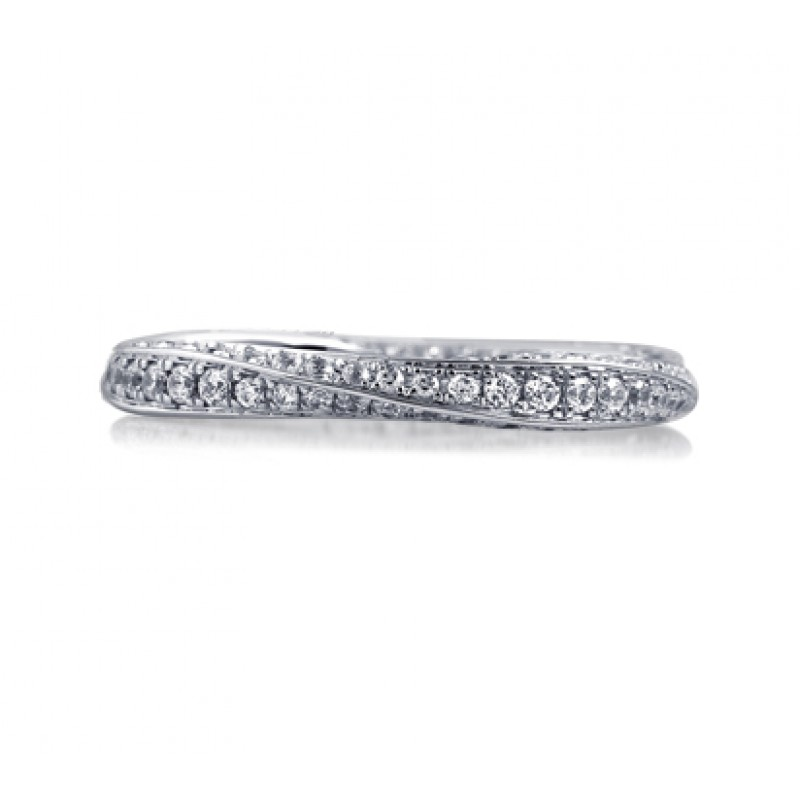 ETERNITY TWIST NEVER ENDING DIAMOND BAND