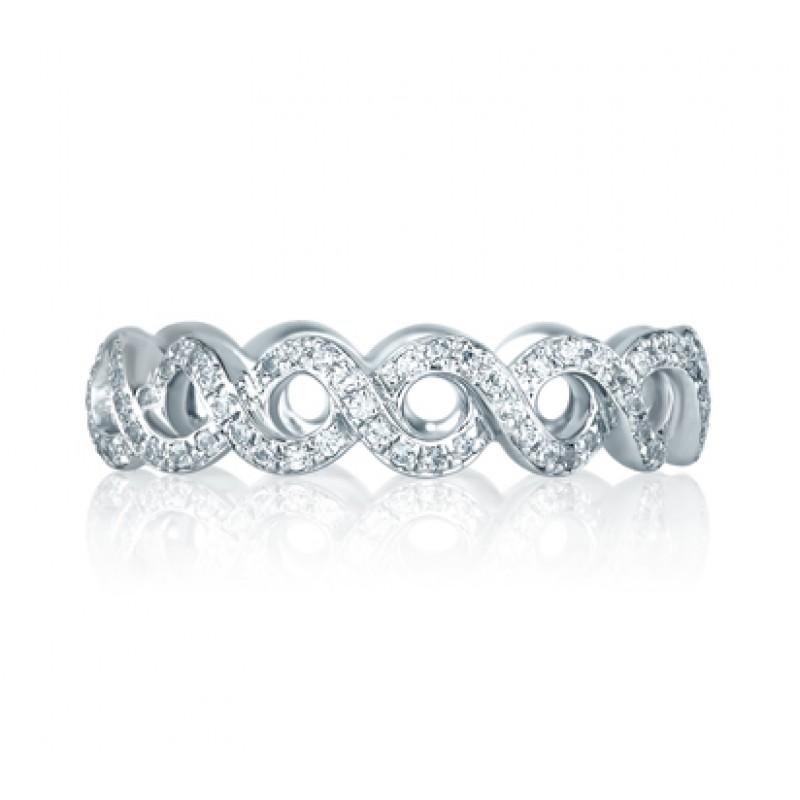 Vine Motif Eternity Stackable Anniversary Ring