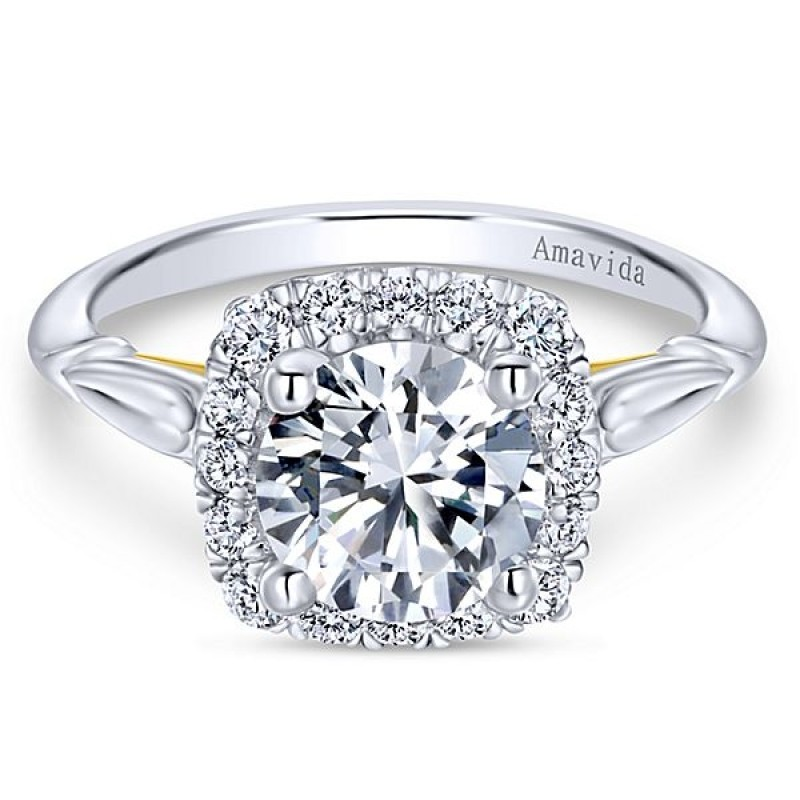 diamond amavida collection by of rings engagement mounting gabriel collections vintage platinum large inspired