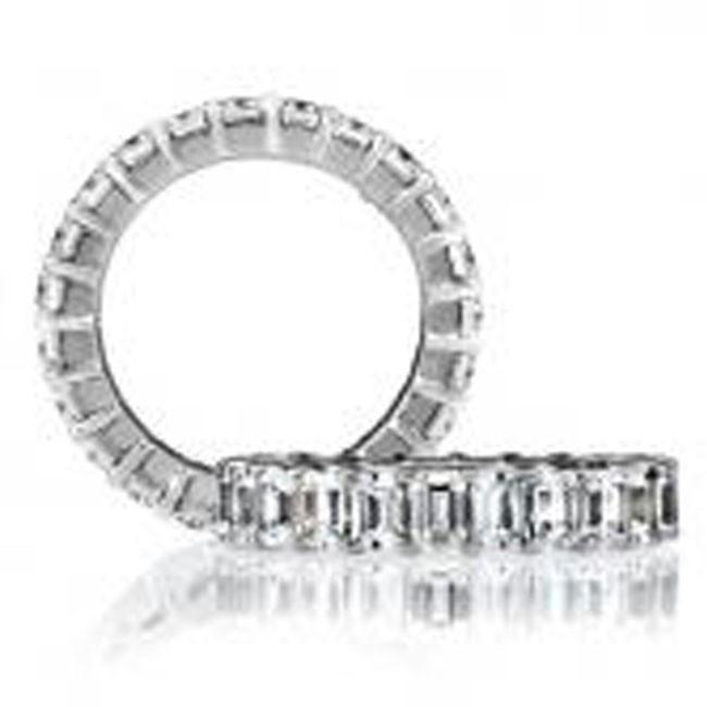 18 KARAT WHITE GOLD DIAMOND WEDDING BAND - 1612WB
