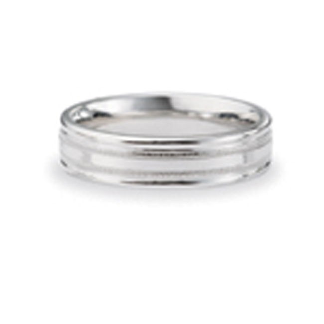 14 KARAT WHITE GOLD GENTS BAND - 2785G