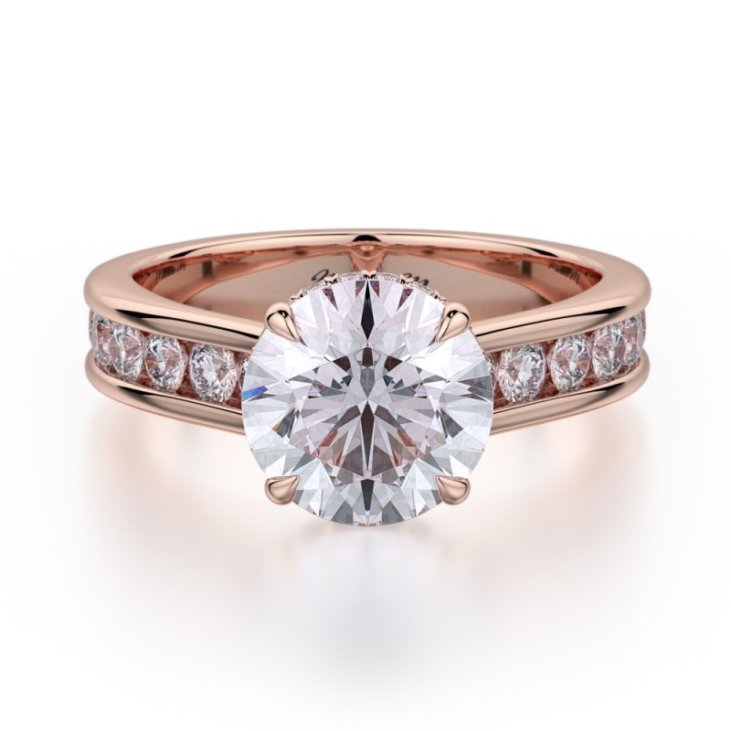 Michael m rose gold engagement ring