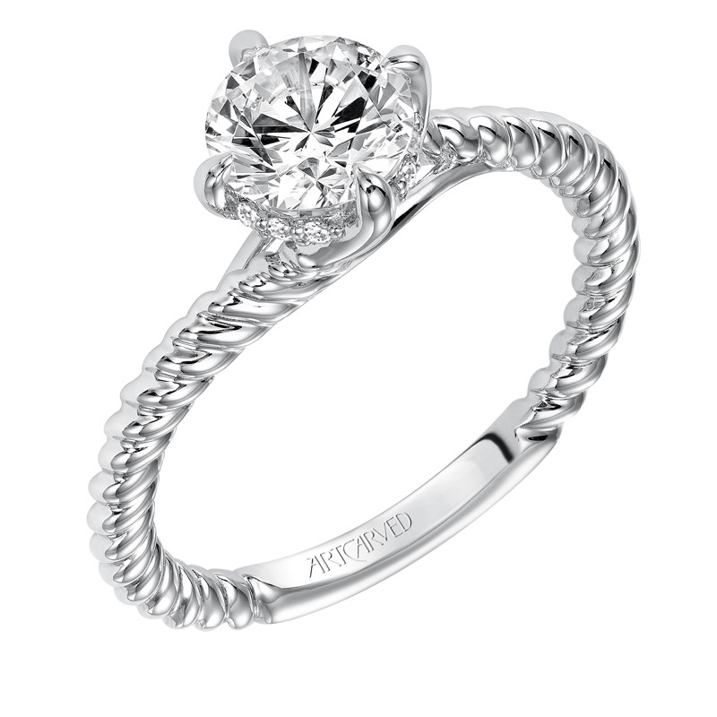 Aline' Classic Solitaire Diamond Engagement Ring - 31-V568ERW-E.00