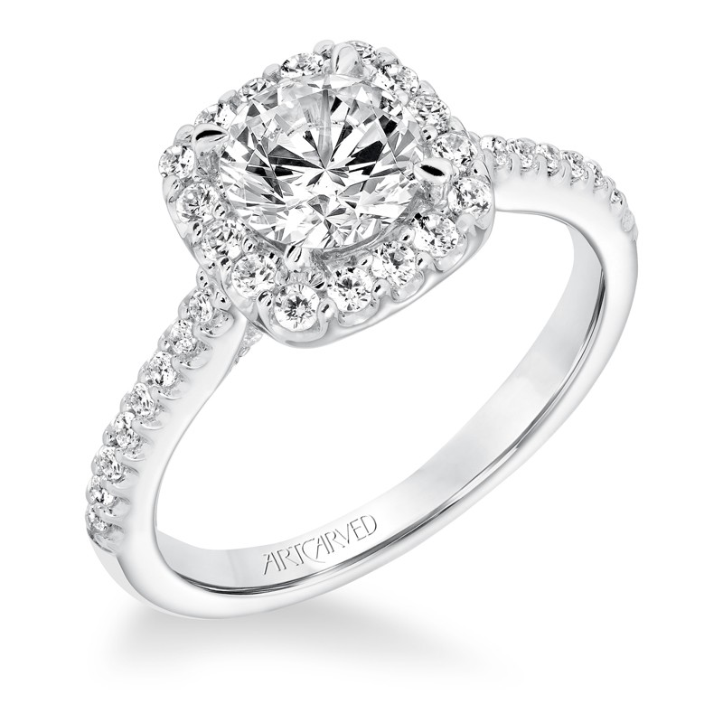 Liv' Classic Diamond Halo Engagement Ring  - 31-V644ERW