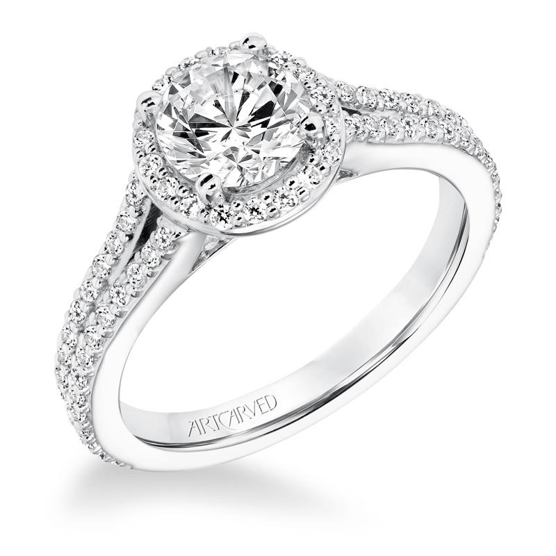 Taylor' Classic Diamond Halo Engagement Ring - 31-V647ERW