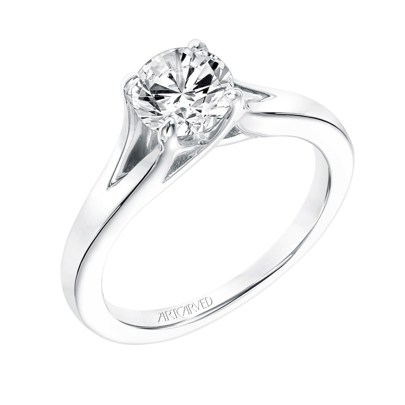 twist solitaire engagement ring classic diamond
