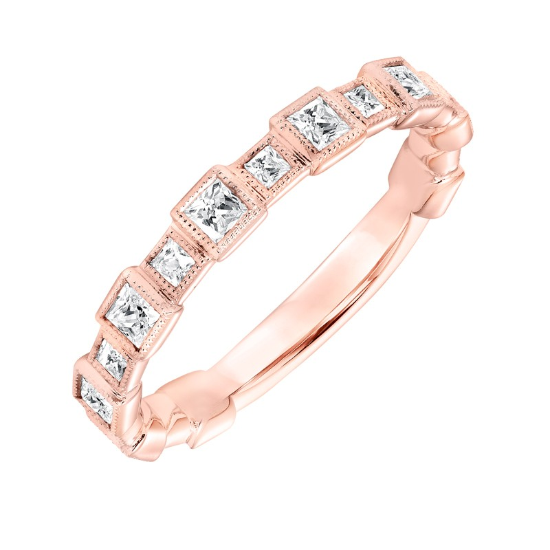 Stackable Band with Bezel set Diamonds - 33-V9151R