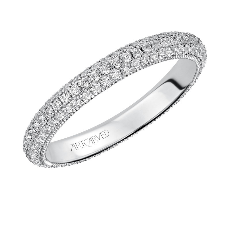Artcarved 14k White Gold Diamond Eternity Band
