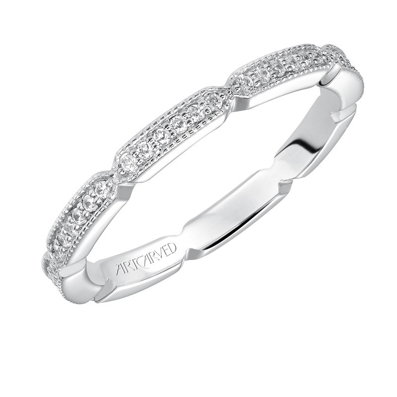Artcarved 14k White Gold Diamond Band