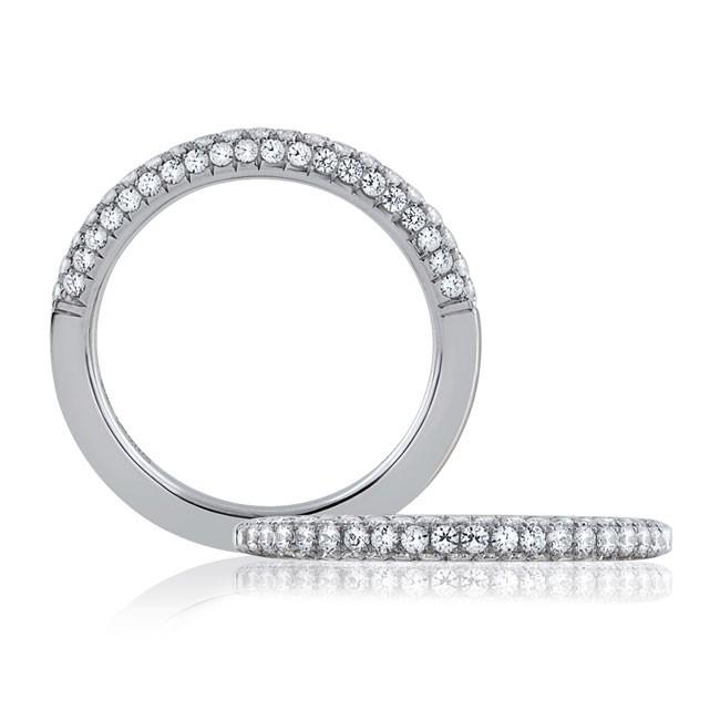 18 KARAT WHITE GOLD WEDDING BAND with diamonds - 4030WR-B