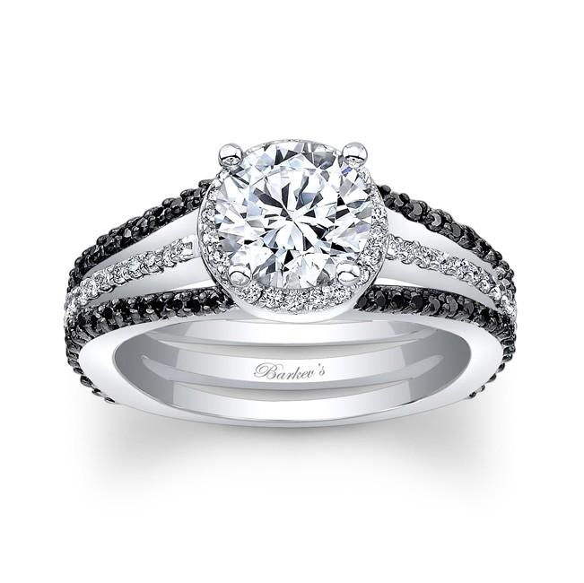 Charming Black Diamond Engagement Ring