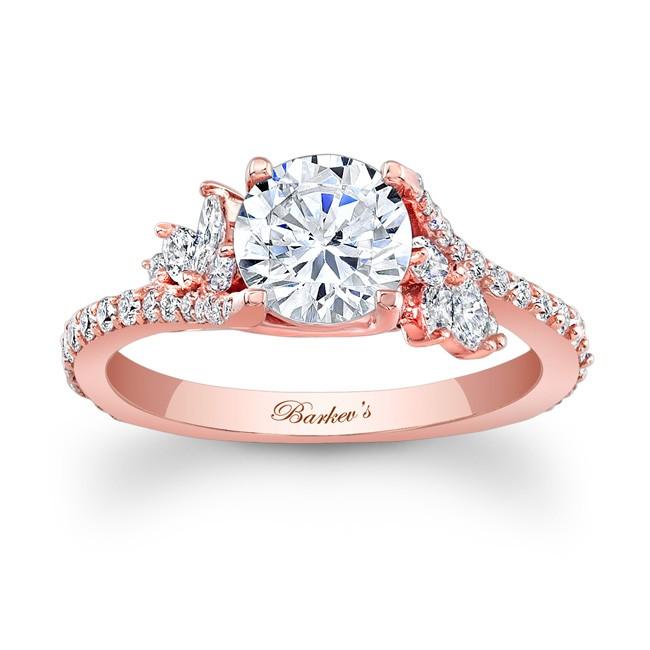 Barkevs Rose Gold Engagement Ring 7908LPW