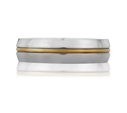 Center Striped Classic Men's Ring