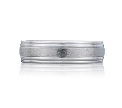 Scratch Finish Modern Men's Ring