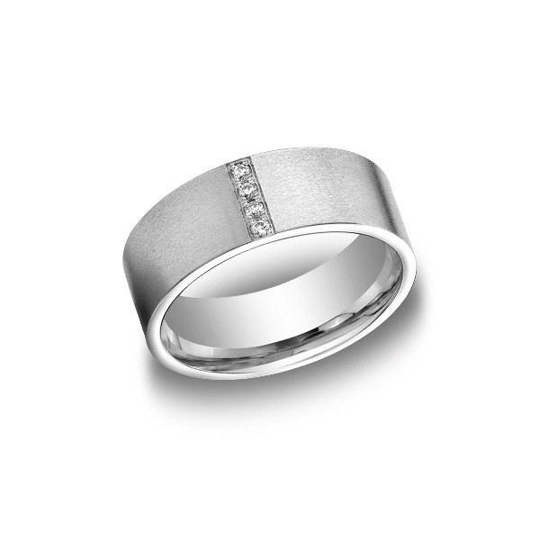 Diamonds White Gold 8mm Diamond Band