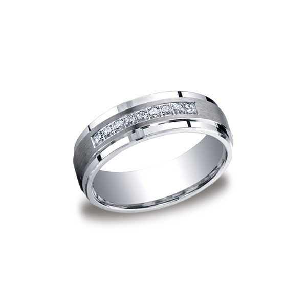 Diamonds White Gold 7mm Diamond Band