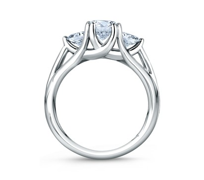 trellis three stone antique engagement diamond side style rings ring setting
