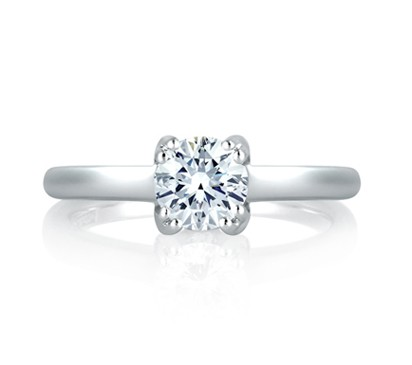 SPLIT PRONG SIMPLE SOLITAIRE ENGAGEMENT RING