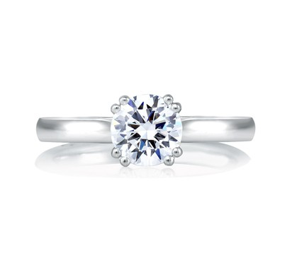 CLASSIC DOUBLE PRONG SOLITAIRE ENGAGEMENT RING