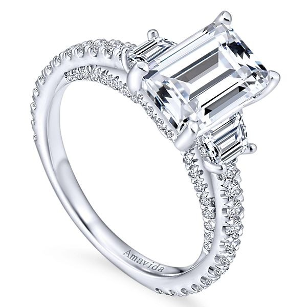 white engagement gold ring diamond products cut halo rings emerald sku