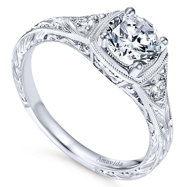 pave stone trapezoid vintage halo style ring diamond as tst stones with rings engagement wedding side hal aw